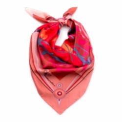 Scarf CROATA 8 Flora and Fauna Classic Deep pink