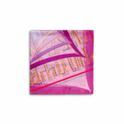Scarf CROATA 8 Glagolitic alphabet Thematic Pink