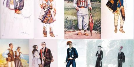 CROATIAN NATIONAL COSTUMES. Nikola Arsenović, End of 19th century