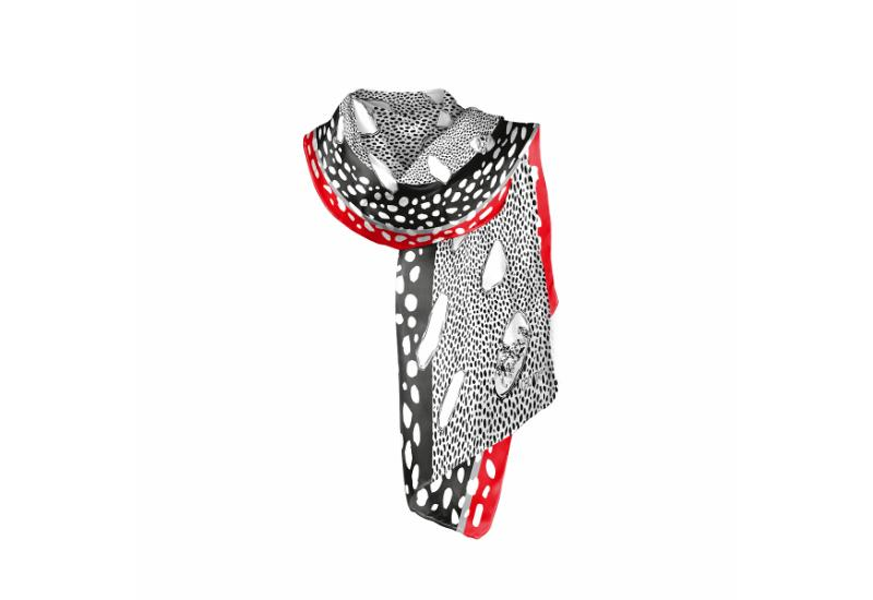 Shawl CROATA Dalmatian dog Thematic White