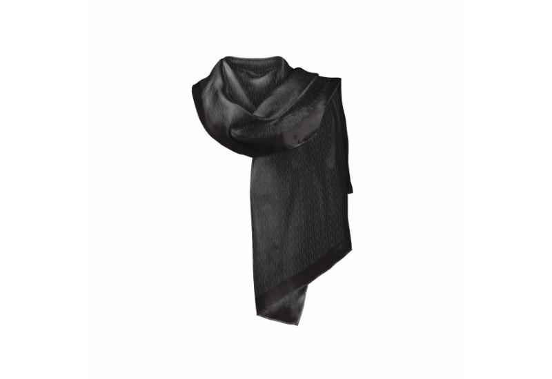 Shawl CROATA Dubrovnik Glagolitic alphabet Thematic Black